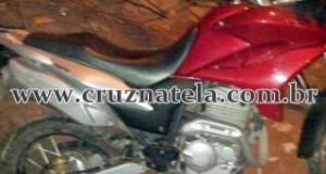 Cruz das Almas: PM recupera moto utilizada durante assalto em Sapeaçu