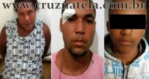 Cruz das Almas: PM prende trio acusado de tráfico de drogas