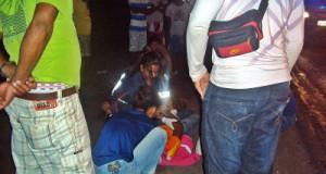 Duas jovens sofrem acidente de moto na entrada de São José do Itaporã