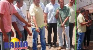 Cruz das Almas: prefeito supervisiona obras de revitalização das praças