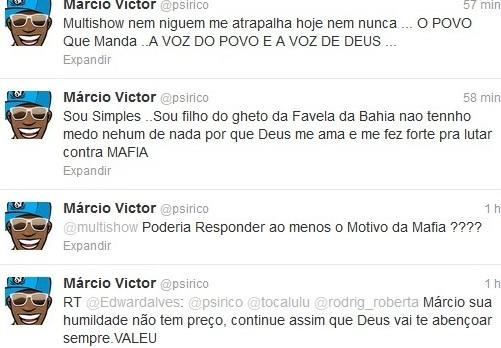 Márcio Vítor usa Twitter para reclamar do Canal Multishow